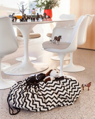 Admirable Playgo Storage Bag Zig Zag Black Ocoug Best Dining Table And Chair Ideas Images Ocougorg